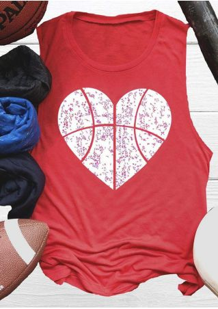 Heart Basketball O-Neck Tank