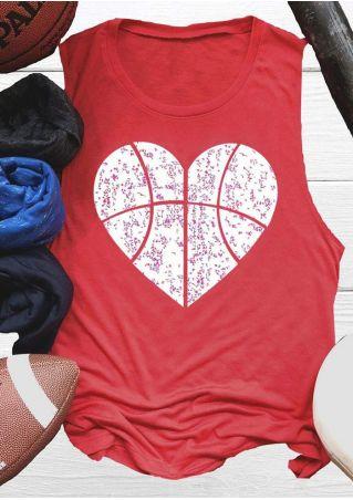 Heart Basketball O-Neck Tank