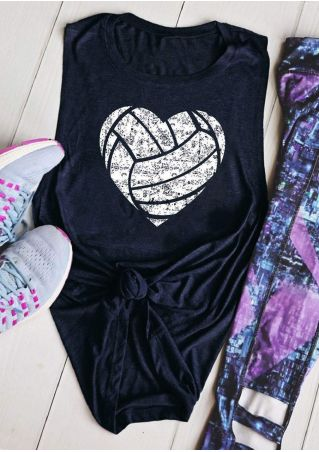 Heart Volleyball O-Neck Tank