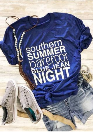 Southern Summer Barefoot Blue Jean Night T-Shirt