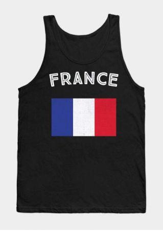 France Flag O-Neck Tank