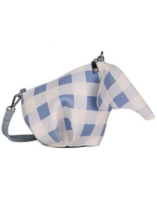 Plaid Elephant Shaped Crossbody Bag