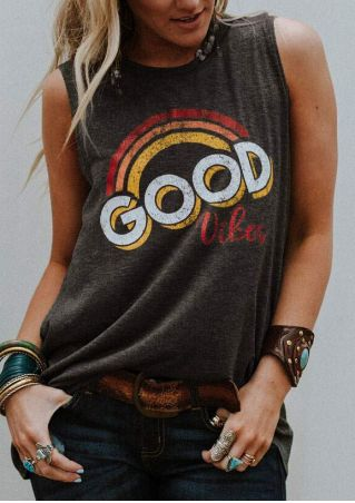 Good Vibes Rainbow Tank