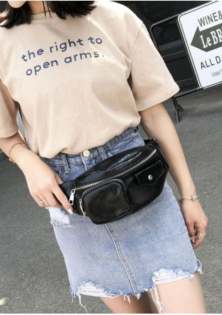 Solid Adjustable Strap Fanny Pack