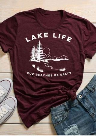 Lake Life Cuz Beaches Be Salty T-Shirt