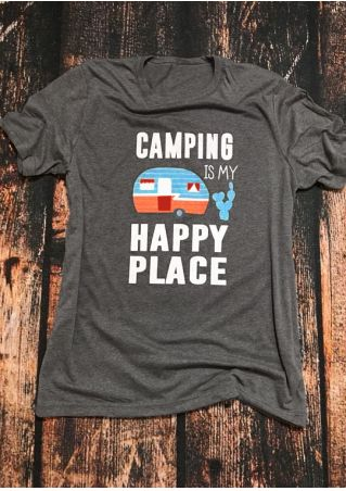 Camping Is My Happy Place T-Shirt