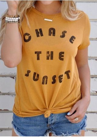 Chase The Sunset T-Shirt without Necklace