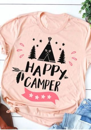 Happy Camper Star Tree T-Shirt