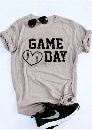 Heart Baseball Game Day T-Shirt