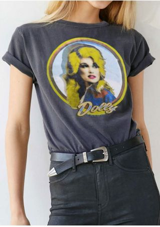 Dolly Parton Short Sleeve O-Neck T-Shirt