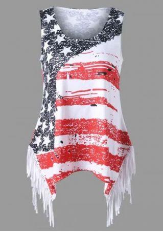 American Flag Tassel Splicing Tank