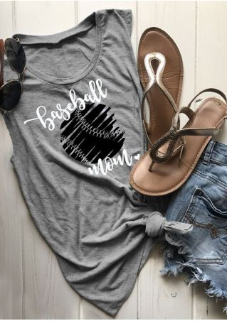 Baseball Mom O-Neck Tank