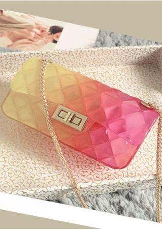 Argyle Gradient Color Crossbody Bag