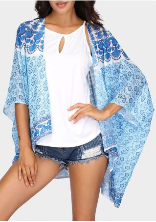 Floral Elephant Batwing Sleeve Cardigan