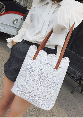Lace Floral Splicing Handbag Shoulder Bag