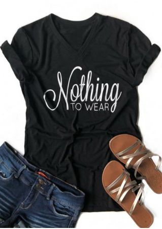 Nothing To Wear V-Neck T-Shirt