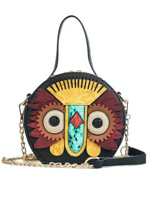 Owl Chain PU Crossbody Bag
