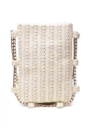 PU Chain Square Crossbody Bag