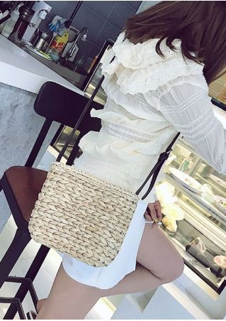 Straw Adjustable Strap Crossbody Bag