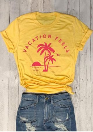 Vacation Feels Coconut Palm T-Shirt