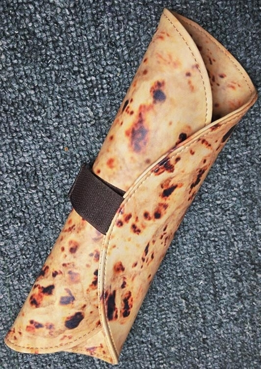Chinese Pizza Shaped Cosmetic Bag Pen Bag