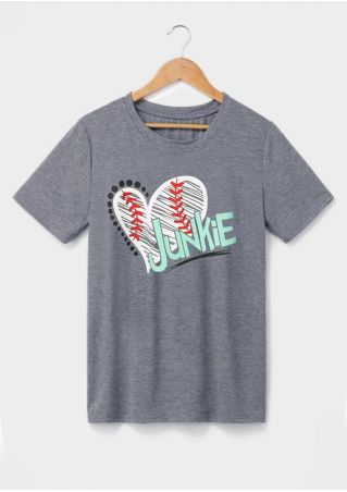 Junkie Heart Baseball Short Sleeve T-Shirt