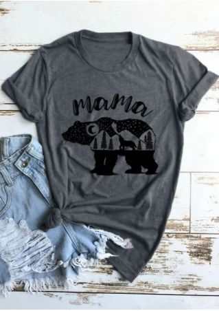 Mama Bear Tree Short Sleeve T-Shirt