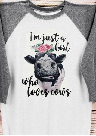I'm Just A Girl Who Loves Cows T-Shirt