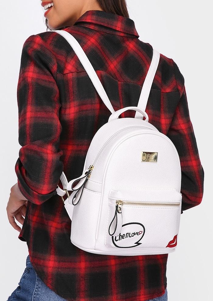 Love Lips Backpack and Mini Purse Set