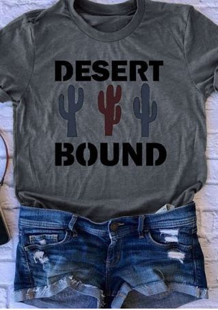 Desert Bound Cactus Short Sleeve T-Shirt