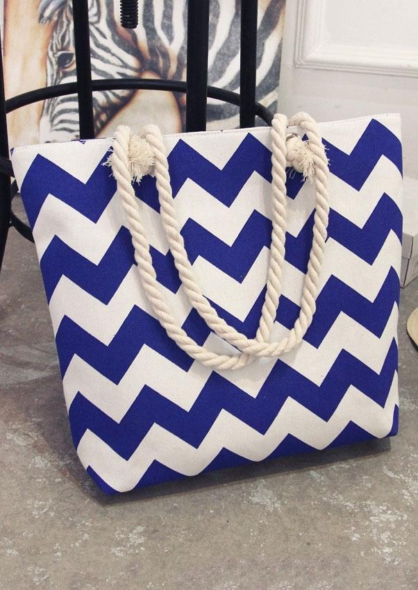 Zigzag Zipper Hangbag Shoulder Bag