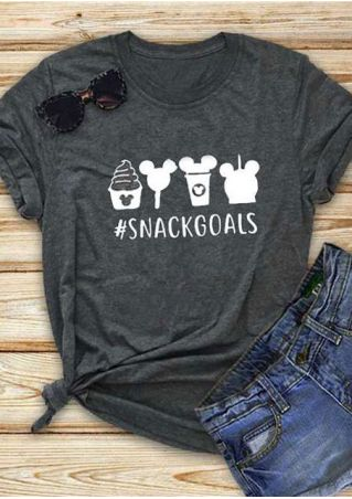Snack Goals Mouse Short Sleeve T-Shirt