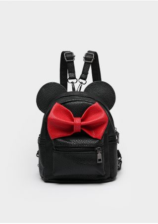 PU Bowknot Mouse Ear Backpack