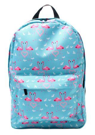 Flamingo Heart Adjustable Strap Backpack