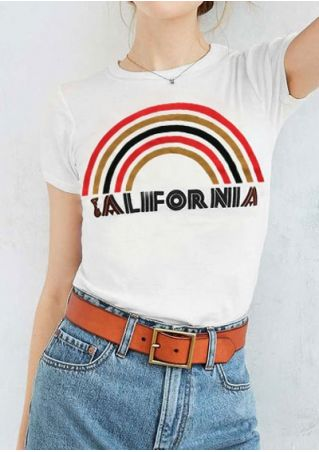 California Rainbow T-Shirt without Necklace