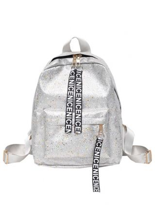Nice PU Zipper Adjustable Strap Backpack