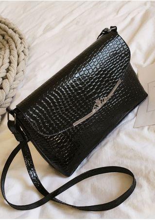 Solid Crown Zipper Crossbody Bag