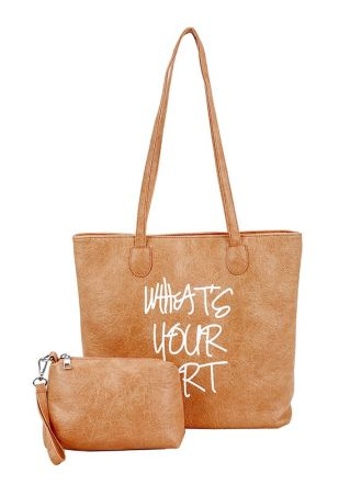 What's Your Art Zipper Handbag Set