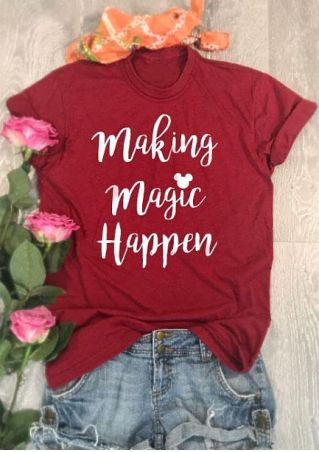 Making Magic Happen Mouse Short Sleeve T-Shirt