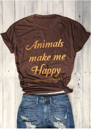 Animals Make Me Happy People Not So Much T-Shirt