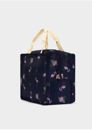 Flamingo Leaf Square Lunch Bag
