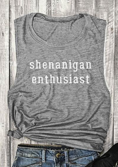 Shenanigan Enthusiast O-Neck Tank