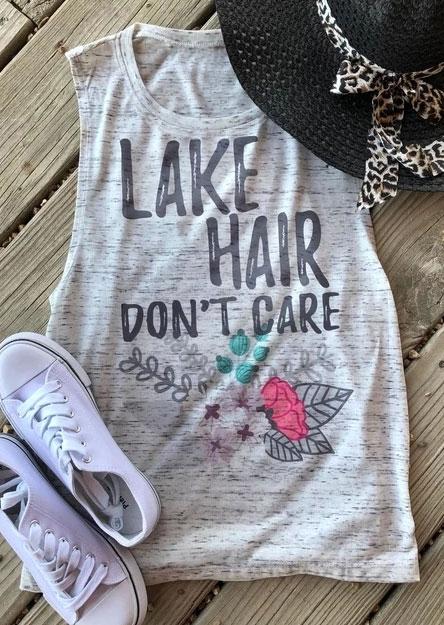 Lake Hair Don't Care Floral Tank