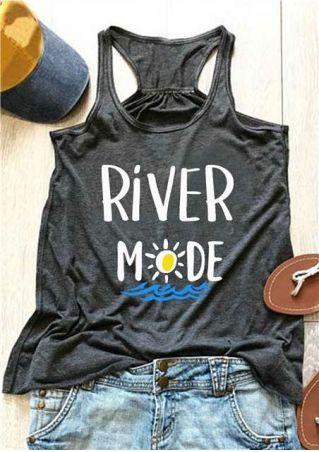 River Mode Sun Racerback Tank