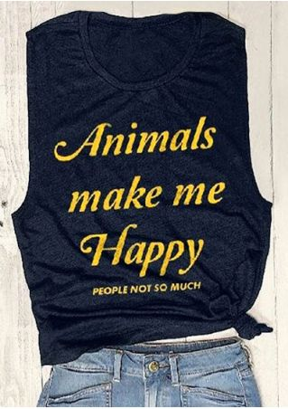 Animals Make Me Happy People Not So Much Tank