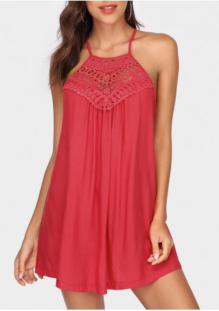 Solid Lace Splicing Cross Tank