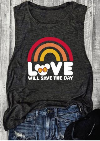 Love Will Save The Day Mouse Rianbow Tank