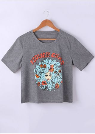 Flower Chird Floral Character T-Shirt