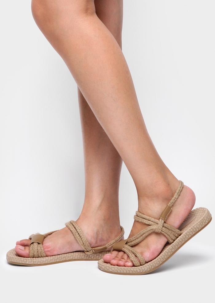 Solid Hemp Slip-On Flat Sandals