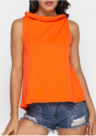 Solid Tie Sleeveless Blouse